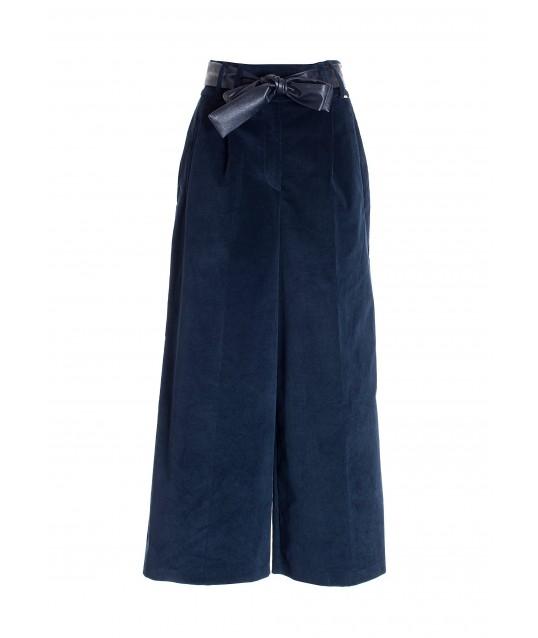 Pantalone Culotte Ampio In Velluto Fracomina