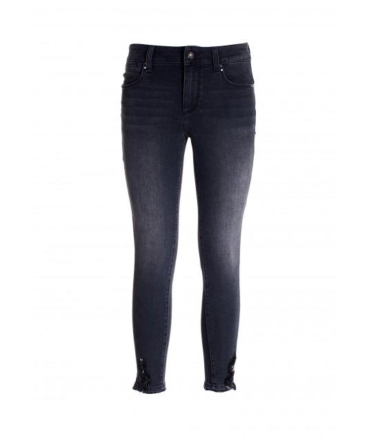 Jeans Skinny Cropped Effetto Push Up In Denim Con Lavaggio Scuro Fracomina