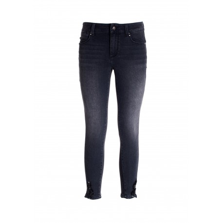 Skinny Cropped Jeans With Push Up Effect In Denim With Dark Wash Fracomina