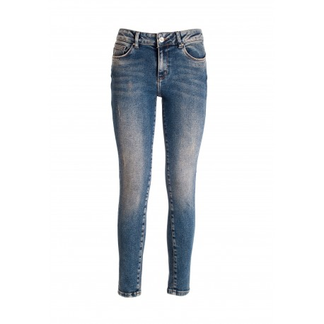 Jeans Skinny Effetto Push Up In Denim Con Lavaggio Medio Fracomina