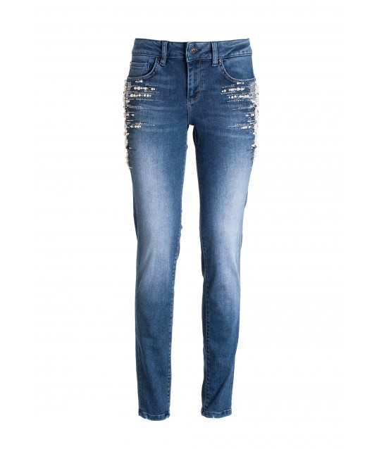 Skinny Jeans With Push Up Effect In Denim With Medium Wash Fracomina