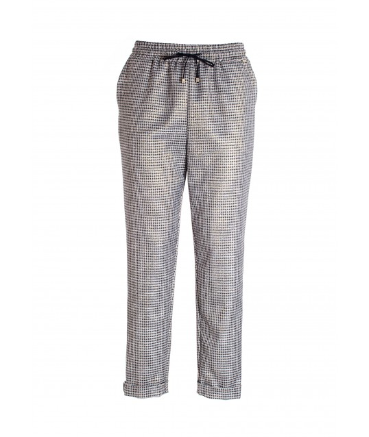Regular Jogger Pants In Pied De Poule Fabric Fracomina