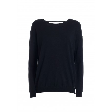 Wide Sweater With Boat Neck Fracomina