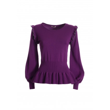 Tight-fitting Sweater With Fracomina Rouches