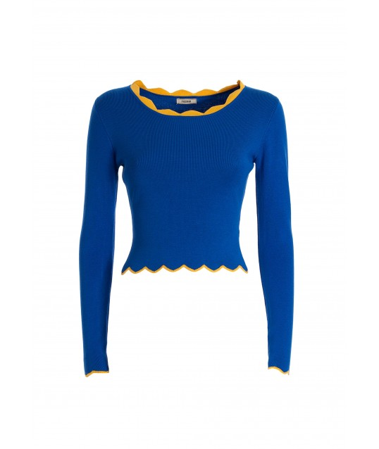 Maglia Cropped Aderente A Coste Fracomina
