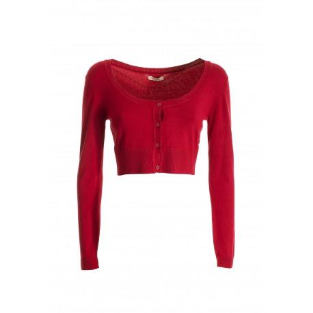 Cropped Knitted Cardigan Fracomina