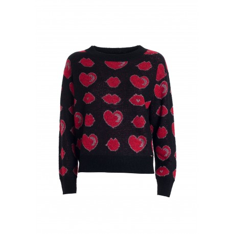 Regular Sweater With Jacquard Fracomina