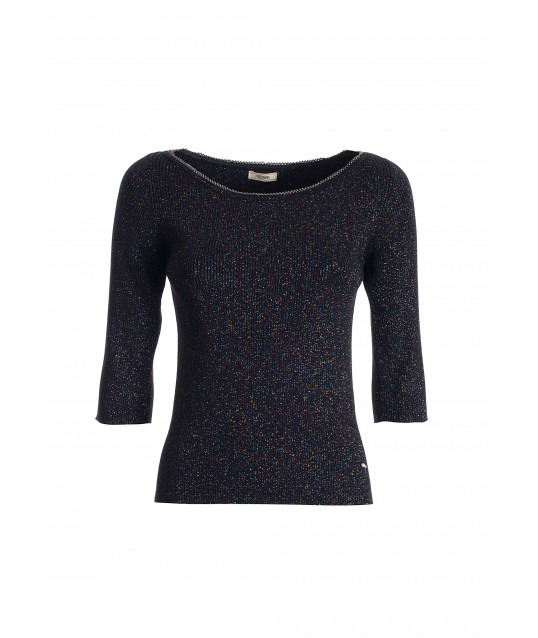 Fitted Sweater In Multicolor Lurex Fracomina