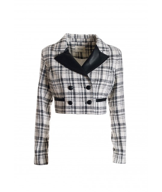 Cropped Jacket In Tweed Fracomina