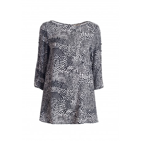 Wide Blouse With Animalier Pattern Fracomina