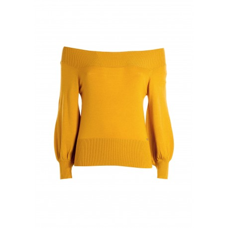 Fitted Sweater With Bardot Neckline Fracomina