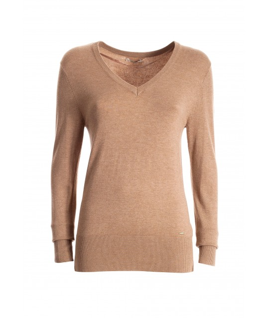 Fitted Sweater With V-Neck Fracomina