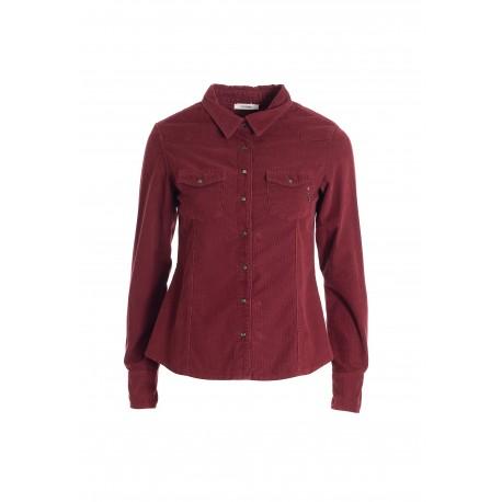 Regular Shirt In Mille Lines Velvet Fracomina