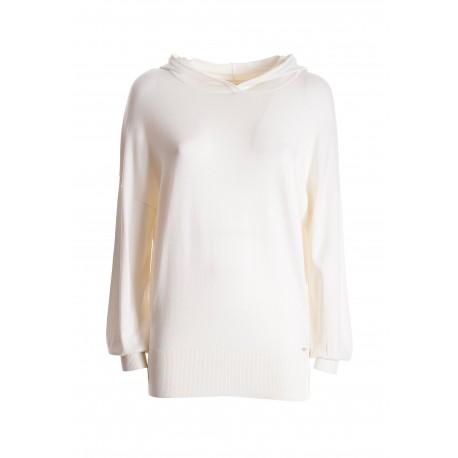 Wide Long Sweater With Hood Fracomina