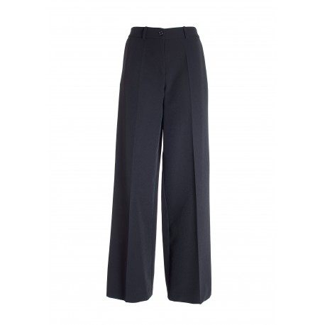 Palazzo Flare Trousers In Fracomina Technical Fabric