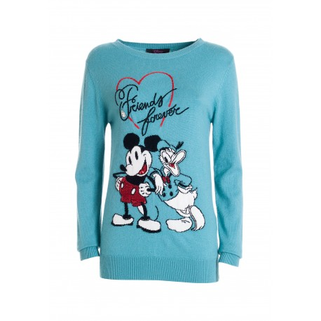Regular Sweater With Angora And Wool With Disney Embroidery Fracomina