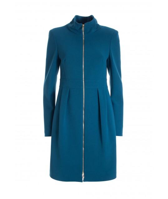 Slim Midi Coat In Fracomina Cloth