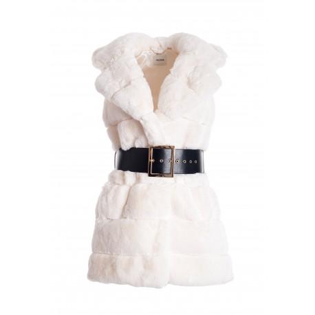 Regular Vest In Eco Fur Fracomina