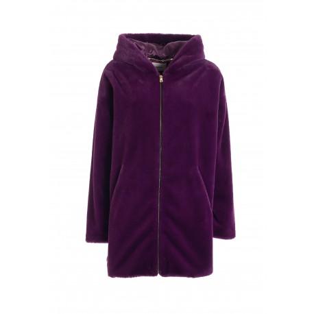 Wide Jacket In Eco Fur Fracomina