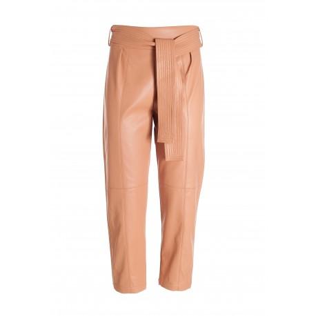 Pantalone Cropped In Eco Pelle Fracomina