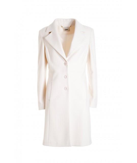 Regular Single-Breasted Coat In Fracomina Cloth