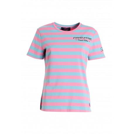 T-Shirt Con Righe Disney Fracomina