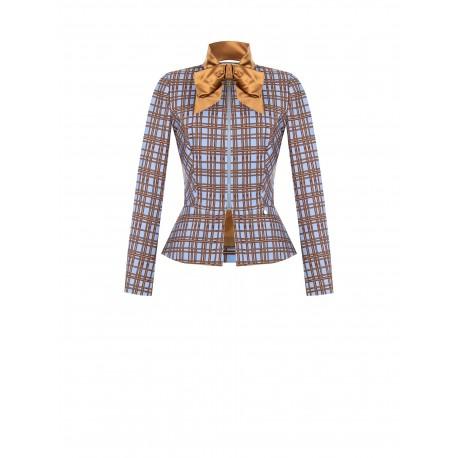 Check Jacket With Renaissance Foulard