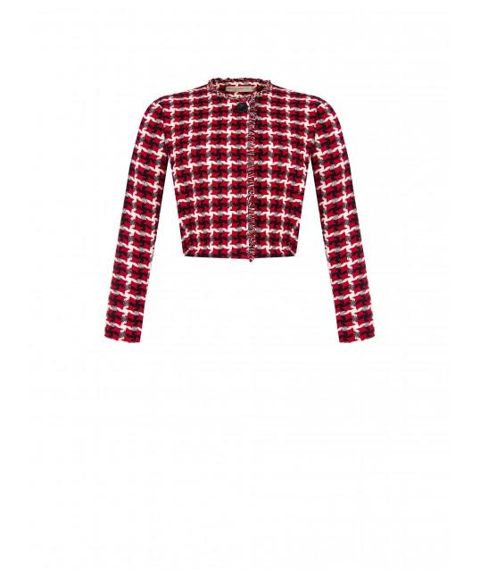 Jacket In Cotton And Viscose Mat Renaissance