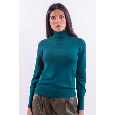 Guess Solid Color High Neck Sweater