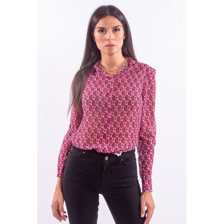 Shirt With Geometric Pattern Guess