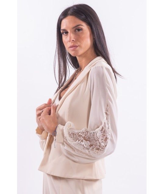 Jacket With Renaissance Embroidered Sleeves