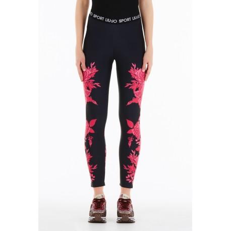 Pantalone Jersey Con Stampa Floreale Liu Jo