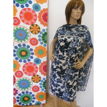 Élégante robe de Diana Gallois fantaisie bleu