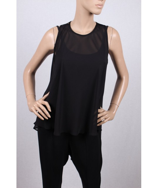 "Chiffon Top Black "" Love To Love Gai Mattiolo"