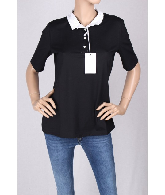 Polo Shirt With Mini Ruffles Gran Sasso