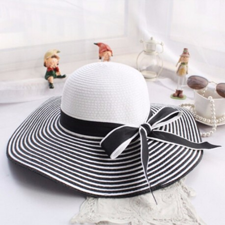 Straw Hats, Striped Beach