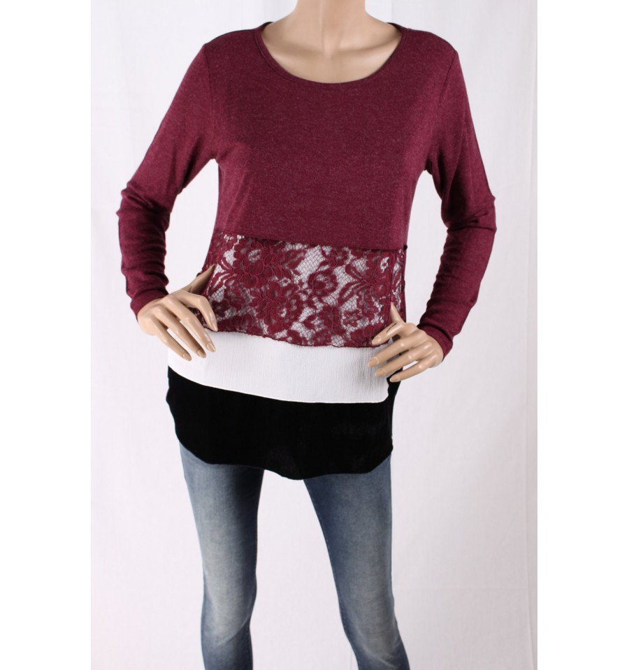 d23b391d3a5f8a Sweater With Lace Insert Ironic - Vestiti Firmati Life Smiles