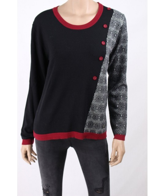 Crew Neck With Buttons On The Dorabella