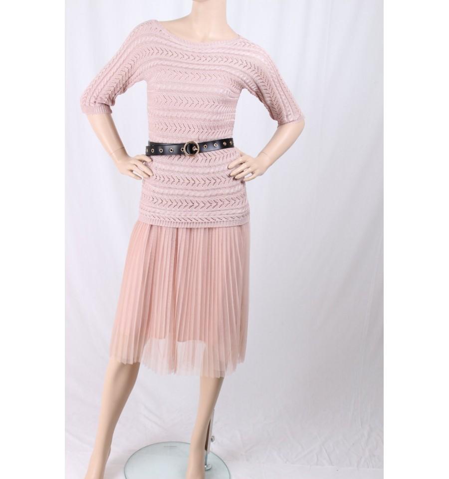 Dress With Pleated Fracomina - Vestiti Firmati Life Smiles e281dcea9d7