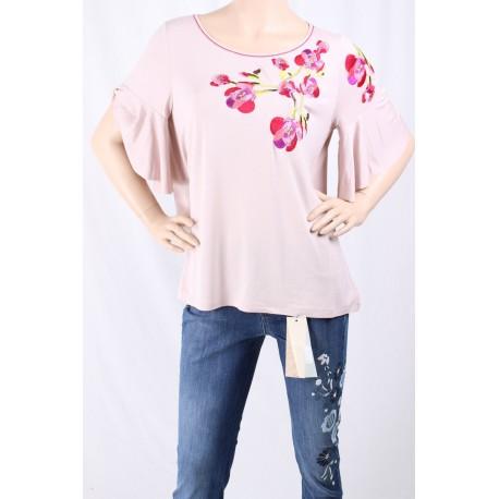 T-shirt Con Maniche Volants Donatella De Paoli