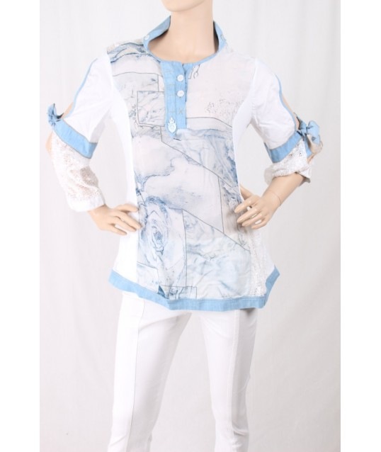 Printed Shirt With Embroidery Elisa Cavalletti