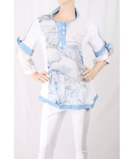Shirt Avec Impression Et La Broderie Elisa Cavalletti