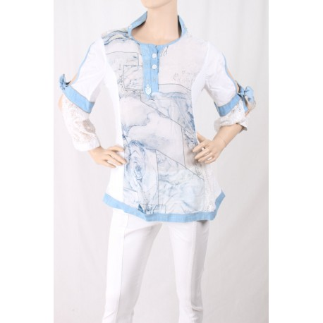 Shirt With Print And Embroidery Elisa Cavalletti