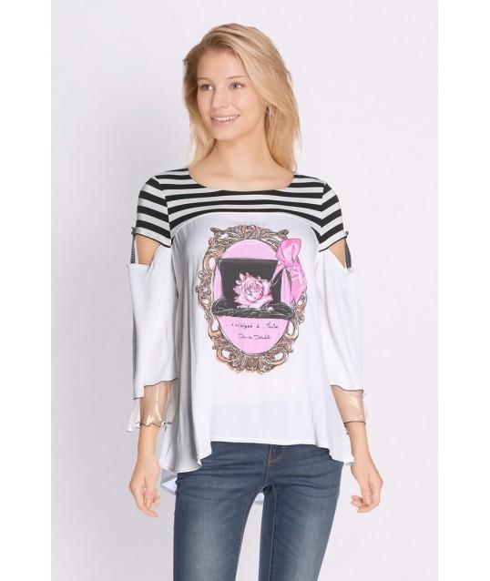 T-shirt Con Stampa Elisa Cavalletti