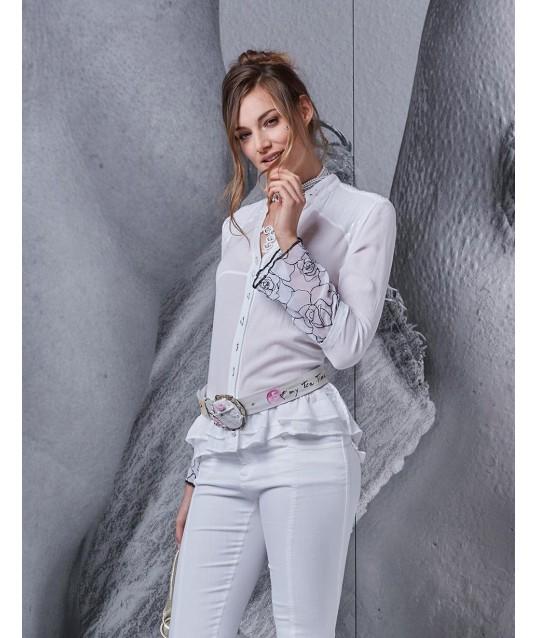 Camicia Con Paillettes Elisa Cavalletti