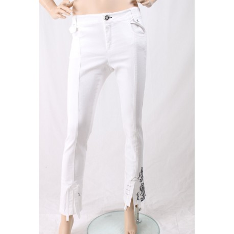 Pantalon Avec De La Broderie Elisa Cavalletti