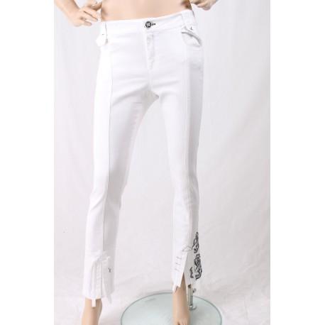Pantalone Con Ricami Elisa Cavalletti