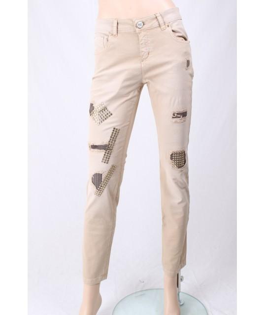 Pantaloni Con Applicazioni Elisa Cavalletti