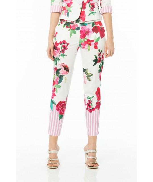 Pantaloni Floreali Cannella