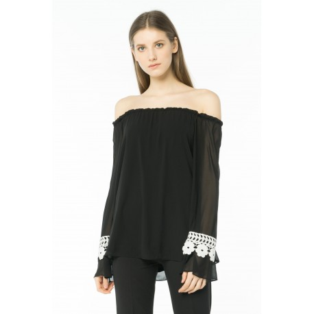 Blusa In Georgette Cannella